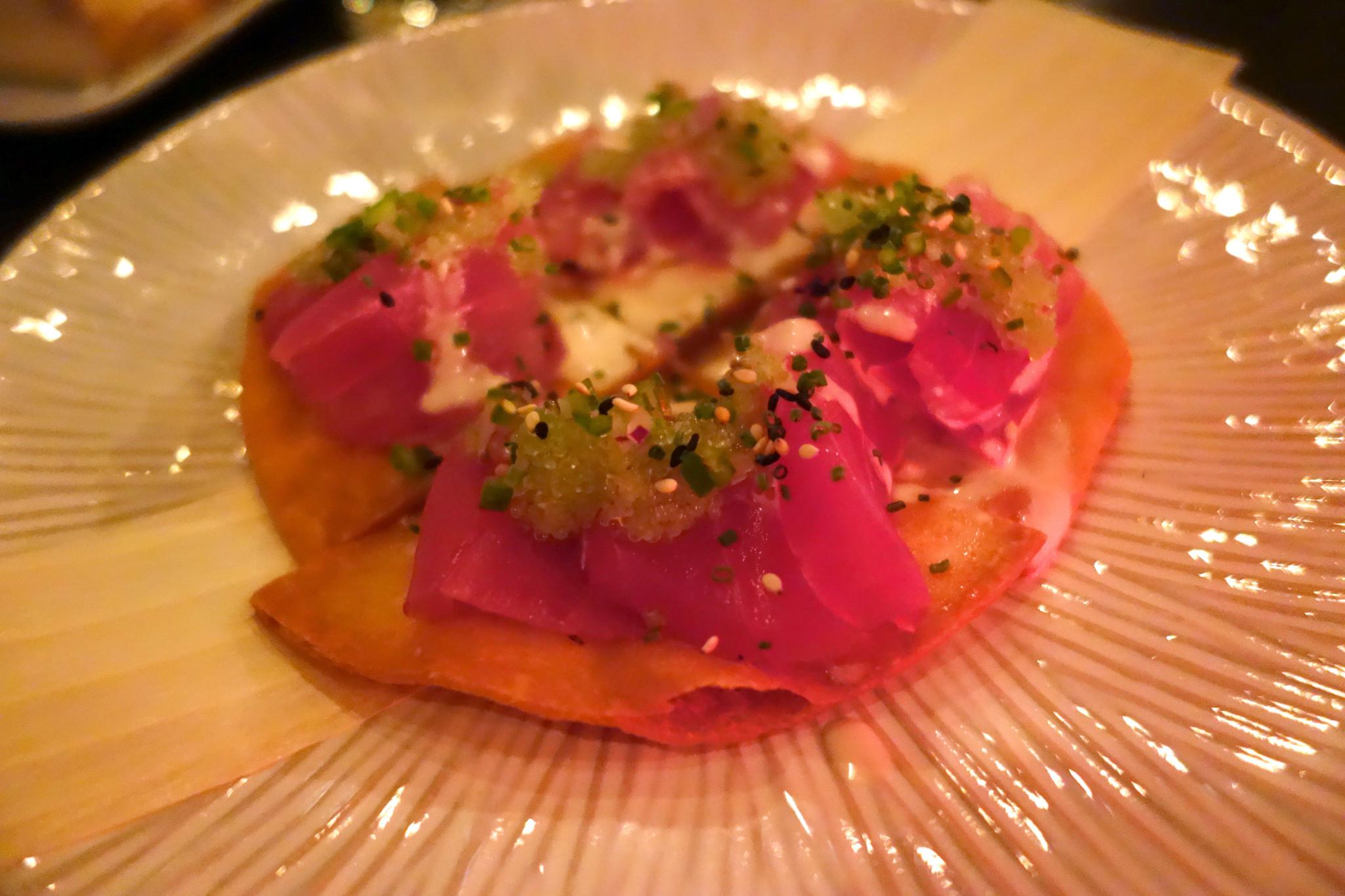 Kurobuta Tuna Sashimi Pizza