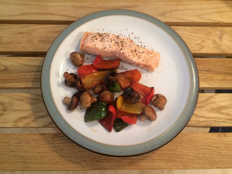 salmon:peppers
