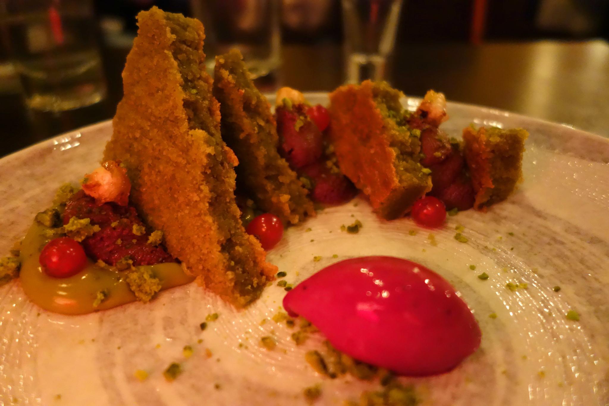 Kurobuta pistachio pudding