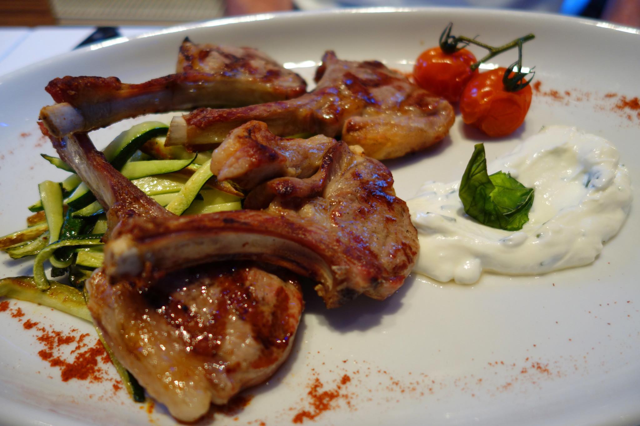 La Scala lamb chops